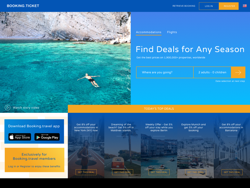 Travel & Booking App Landing Page  Gallery Image 1