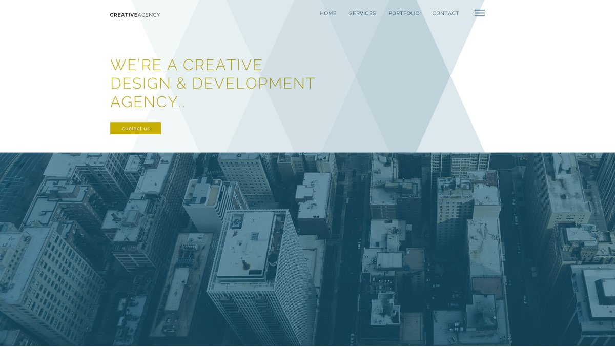 Creative Agency Hero Section Photoshop Template Gallery Image 1
