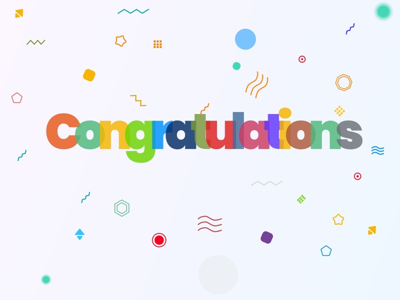 Colorful Congratulations with Confetti Background for Sketch & SVG Thumbnail